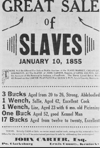 AcadaMay slave auction
